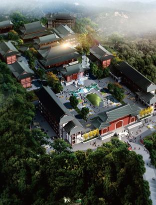 古典建筑篇--贝博河北《梅花贝博登录文化地产业贝博下载链接》鸟瞰图